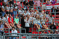 Fifa Women's World Cup Germany 2011 : England - France - at Leverkusen : Girls supporting England.foto DAVID CATRY / Vrouwenteam.be