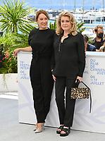 CANNES, FRANCE. July 11, 2021: Emmanuelle Bercot & Catherine Deneuve  at the photocall for Peaceful (De Son Vivant) at the 74th Festival de Cannes.<br /> Picture: Paul Smith / Featureflash