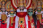 Kathakali dancers, Kozhikode, Kerala, India