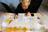 Seconde etape, classement des six huiles preselectionnees