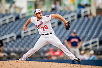 27 February 2019: Washington Nationals pitcher Austin Adams on the mound against the Houston Astros at the Ballpark of the Palm Beaches in West Palm Beach, Florida. The Nationals defeated the Astros 14-8 in their Spring Training Grapefruit League matchup. Mandatory Credit: Ed Wolfstein Photo *** RAW (NEF) Image File Available ***