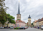 Germany, Free State of Thuringia, Arnstadt: centre with Ried-Tower | Deutschland, Freistaat Thueringen, Arnstadt (auch Bachstadt Arnstadt bezeichnet): Stadtzentrum mit Riedtor