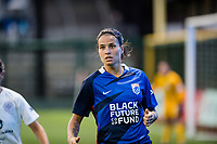 TACOMA, WA - JULY 31: Dzsenifer Marozsan #8 of the OL Reign during a game between Racing Louisville FC and OL Reign at Cheney Stadium on July 31, 2021 in Tacoma, Washington.