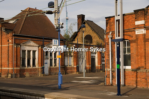Stratford railway train station. Derelict buildings. Regeneration area. Before re-development for the 2012 Olympic Games Stratford, England 2006.