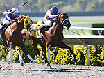 Gun Boat by Congrats breaks his maiden under Martin Pedroza at Del Mar Thoroughbred Club in Del Mar, CA.  August 06, 2011