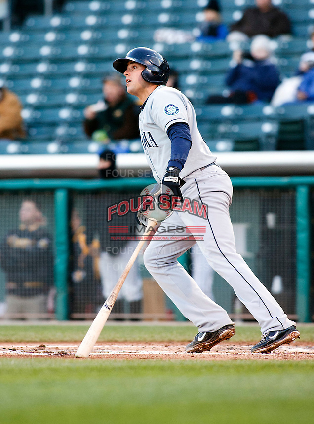Tacoma Rainiers infielder Alex Liddi #10 during a game vs. Salt Lake Bees on April 26, 2011 at Spring Mobile Ballpark in Salt Lake City, Utah . Salt Lake Bees were defeated by Tacoma 8-4.  Photo By Matthew Sauk/Four Seam Images