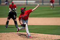 Philadelphia Phillies pitcher Jonathan Hennigan (51) during a Minor League Spring Training game against the Detroit Tigers on April 17, 2021 at Joker Marchant Stadium in Lakeland, Florida.  (Mike Janes/Four Seam Images)