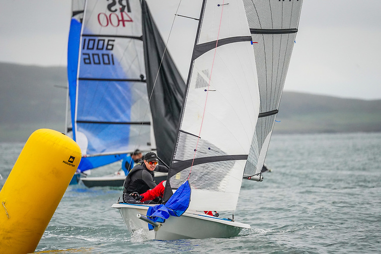 Marty O'Leary and Kevin Johnson competing in the RS400 at the National Championships in Rush