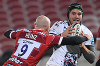 12th February 2021; Kingsholm Stadium, Gloucester, Gloucestershire, England; English Premiership Rugby, Gloucester versus Bristol Bears; Willi Heinz of Gloucester tackles Jake Heenan of Bristol Bears