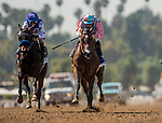 April 3, 2021: Soothsay and Flavien Prat win the the Santa Anita Oaks at Santa Anita Park in Arcadia, California on April 3, 2021. Evers/Eclipse Sportswire/CSM