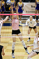 SAN ANTONIO, TX - OCTOBER 1, 2008: The University of the Incarnate Word Cardinals vs. the St. Mary's University Rattlers Women's Volleyball at the Bill Greehey Arena. (Photo by Jeff Huehn)