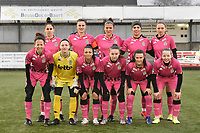 team of Sporting Charleroi with goalkeeper Ambre Collet (1) of Sporting Charleroi    Chrystal Lermusiaux (2) of Sporting Charleroi   Ines Dhaou (5) of Sporting Charleroi   Yasaman Farmani (6) of Sporting Charleroi   Ylenia Carabott (7) of Sporting Charleroi   Madison Hudson (8) of Sporting Charleroi   Ludmila Matavkova (9) of Sporting Charleroi   Noemie Fourdin (11) of Sporting Charleroi   Jennifer Bouchenna (17) of Sporting Charleroi   Jessica Silva Valdebenito (18) of Sporting Charleroi   Megane Vos (20) of Sporting Charleroi    pictured during a female soccer game between SV Zulte - Waregem and Sporting Charleroi on the eleventh matchday of the 2020 - 2021 season of Belgian Scooore Womens Super League , saturday 23 th of January 2021  in Zulte , Belgium . PHOTO SPORTPIX.BE | SPP | DIRK VUYLSTEKE