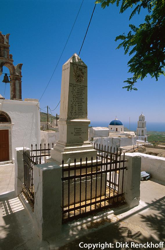 Kirche in Pyrgos, Insel Santorin (Santorini), Griechenland, Europa