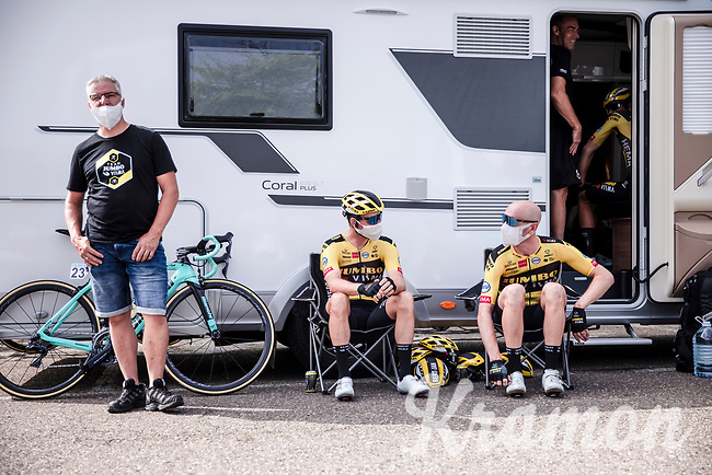 Team Jumbo Visma pre race. <br /> <br /> Dwars Door Het Hageland 2020<br /> One Day Race: Aarschot – Diest 180km (UCI 1.1)<br /> Bingoal Cycling Cup 2020