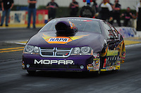 Nov. 10, 2011; Pomona, CA, USA; NHRA pro stock driver Vincent Nobile during qualifying at the Auto Club Finals at Auto Club Raceway at Pomona. Mandatory Credit: Mark J. Rebilas-.