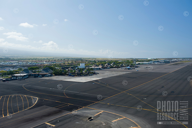 Aerial of Kona airport
