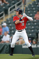 Fort Myers Miracle outfielder Max Kepler (20) on deck during a game against the Tampa Yankees on April 15, 2015 at Hammond Stadium in Fort Myers, Florida.  Tampa defeated Fort Myers 3-1 in eleven innings.  (Mike Janes/Four Seam Images)