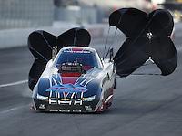 Feb 11, 2017; Pomona, CA, USA; NHRA top alcohol funny car driver Brian Hough during the Winternationals at Auto Club Raceway at Pomona. Mandatory Credit: Mark J. Rebilas-USA TODAY Sports