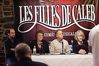 montreal (qc) Canada - dec 2<br />  2009,- MIchel Rivard,Arlette cousture,  Paul Dupont-Hebert,<br />  Micheline Lanctot<br /> <br /> les filles de caleb - la comedie musicale press conference