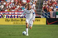 LA Galaxy midfielder David Beckham (23) takes the ball up field in his team's 4-0 lose to FC Dallas. LA Galaxy vs FC Dallas at Pizza Hut Park Frisco, Texas July 27, 2008 Final Score 0-4.