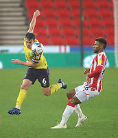 Huddersfield Town's Jonathan Hogg in action with  Stoke City's Tyrese Campbell<br /> <br /> Photographer Mick Walker/CameraSport<br /> <br /> The EFL Sky Bet Championship - Stoke City v HUddersfield Town - Saturday 21st November 2020 - bet365 Stadium - Stoke<br /> <br /> World Copyright © 2020 CameraSport. All rights reserved. 43 Linden Ave. Countesthorpe. Leicester. England. LE8 5PG - Tel: +44 (0) 116 277 4147 - admin@camerasport.com - www.camerasport.com