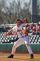 University of Virginia Cavaliers pitcher Bobby Nicholson (21) on the mound during a game against the Liberty University Flames at Joseph P. Riley Ballpark on February 17, 2017 in Charleston, South Carolina. Virginia defeated Liberty 10-2. (Robert Gurganus/Four Seam Images)