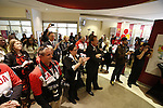 Ottawa, ON - March 28 2014- The crowd gathers to hear from the athletes and view the presentation of limited edition gold-plated coin and personalized Welcome Home banners to Ottawa's Sochi Paralympians at the CIBC Paralympic Welcome Home Event at CIBC South Keys Banking Centre in Ottawa (Photo: Patrick Doyle/CIBC)