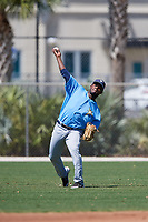 Tampa Bay Rays Jose Tonton (99) warms up before a Minor League Spring Training game against the Minnesota Twins on March 17, 2018 at CenturyLink Sports Complex in Fort Myers, Florida.  (Mike Janes/Four Seam Images)