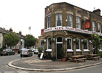The Griffin Public House close to the ground remained closed even though several pubs reopened today during Brentford vs Wigan Athletic, Sky Bet EFL Championship Football at Griffin Park on 4th July 2020