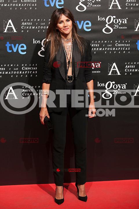 Goya Toledo poses before the 2015 Goya Awards nominee ceremony in Madrid, Spain. January 19, 2015. (ALTERPHOTOS/Victor Blanco)