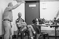 race winner Tom Boonen (BEL/Etixx-Quickstep) at anti-doping after the race<br /> <br /> Brussels Cycling Classic 2016
