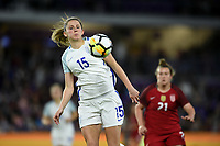Orlando City, FL - Wednesday March 07, 2018: Abbie McManus during a 2018 SheBelieves Cup match between the women's national teams of the United States (USA) and England (ENG) at Orlando City Stadium.