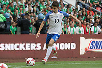 Mexico City, Mexico - Saturday June 10, 2017: Christian Pulisic during a 2018 FIFA World Cup Qualifying Final Round match between the men's national teams of the United States (USA) and Mexico (MEX) at Azteca Stadium.