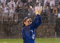 EAST HARTFORD, CT - JULY 1: Alex Morgan #13 of the USWNT salutes the crowd during a game between Mexico and USWNT at Rentschler Field on July 1, 2021 in East Hartford, Connecticut.
