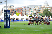20120823 Copyright onEdition 2012©.Free for editorial use image, please credit: onEdition..Saracens players receive a team talk at The Honourable Artillery Company, London in the pre-season friendly between Saracens and Stade Francais Paris...For press contacts contact: Sam Feasey at brandRapport on M: +44 (0)7717 757114 E: SFeasey@brand-rapport.com..If you require a higher resolution image or you have any other onEdition photographic enquiries, please contact onEdition on 0845 900 2 900 or email info@onEdition.com.This image is copyright the onEdition 2012©..This image has been supplied by onEdition and must be credited onEdition. The author is asserting his full Moral rights in relation to the publication of this image. Rights for onward transmission of any image or file is not granted or implied. Changing or deleting Copyright information is illegal as specified in the Copyright, Design and Patents Act 1988. If you are in any way unsure of your right to publish this image please contact onEdition on 0845 900 2 900 or email info@onEdition.com