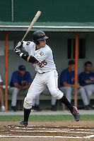 August 19, 2005:  First Round Pick, Catcher Brandon Snyder,  of the Bluefield Orioles during a game at Bowen Field in Bluefield, WV.  Bluefield is the Appalachian League Class-A affiliate of the Baltimore Orioles.  Photo by:  Mike Janes/Four Seam Images