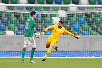 BELFAST, NORTHERN IRELAND - MARCH 28: Zack Steffen #1 of the United States during a game between Northern Ireland and USMNT at Windsor Park on March 28, 2021 in Belfast, Northern Ireland.