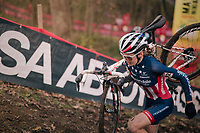 US Champion & eventual runner-up Clara Honsinger (USA/Cannondale-Cyclocrossworld)<br /> <br /> Women's Race<br /> UCI Cyclocross World Cup Namur 2020 (BEL)<br /> <br /> ©kramon