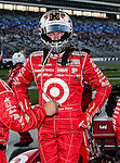 Scott Dixon (9) driver of the Target Chip Ganassi Racing car, in action during the IZOD Indycar Firestone 550 race at Texas Motor Speedway in Fort Worth,Texas. Justin Wilson (18) driver of the Sonny's BBQ car wins the Firestone 550 race...