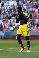 Valencia, Spain. Thursday 19 September 2013<br /> Pictured: Adisappointed Nathan Dyer of Swansea after his shot goes wide<br /> Re: UEFA Europa League game against Valencia C.F v Swansea City FC, at the Estadio Mestalla, Spain,