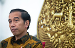 "21 FEBRUARY 2017, Jakarta, Indonesia: Indonesian President Joko Widodo during an interview at the Presidential Palace in central Jakarta. ""Jokowi"" as he is commonly called is the seventh President of Indonesia since Independence from the Dutch. In office since 2014 he was previously Governor of Jakarta from 2012 to 2014<br /> Picture by Graham Crouch/The Australian"