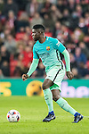 Samuel Umtiti of FC Barcelona in action during their Copa del Rey Round of 16 first leg match between Athletic Club and FC Barcelona at San Mames Stadium on 05 January 2017 in Bilbao, Spain. Photo by Victor Fraile / Power Sport Images