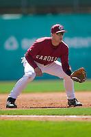 South Carolina third baseman James Darnell (4) on defense versus LSU at Sarge Frye Stadium in Columbia, SC, Thursday, March 18, 2007.