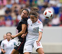 Carli Lloyd, Lupita Worbis. The USWNT defeated Mexico, 1-0, during the game at Red Bull Arena in Harrison, NJ.