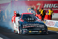 Feb 23, 2020; Chandler, Arizona, USA; NHRA funny car driver Tommy Johnson Jr during the Arizona Nationals at Wild Horse Pass Motorsports Park. Mandatory Credit: Mark J. Rebilas-USA TODAY Sports