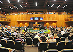 Hip no. 80, a bay colt by Street Cry (Serenading - A.P. Indy) sells for $1,200,000 at the Fasig-Tipton Saratoga Selected Yearlings Sale on August 6, 2012 at Humphrey S. Finney Pavilion in Saratoga Springs, New York.  (Bob Mayberger/Eclipse Sportswire)