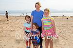 The Curran family enjoying a stroll in Inch beach on Saturday, l to r: Méabh, Orla, Ciara and Ann Marie Curran.