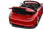Car stock 2017 Porsche 911 Carrera 2 Door Convertible engine high angle detail view