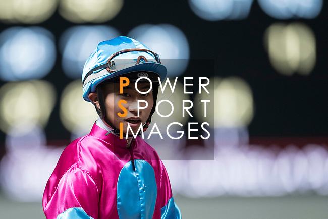 Jockey #10 Dylan Mo Hin-tung during the race 4 of Hong Kong Racing at Happy Valley Race Course on November 29, 2017 in Hong Kong, Hong Kong. Photo by Marcio Rodrigo Machado / Power Sport Images