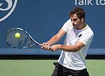 August 18,2017:   Albert Ramos-Vinolas (ESP) loses to Rafael Nadal (ESP) 7-6, 6-2, at the Western & Southern Open being played at Lindner Family Tennis Center in Mason, Ohio.  ©Leslie Billman/Tennisclix/CSM